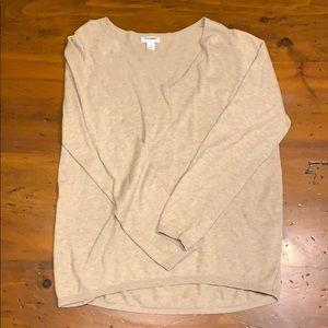 Tan long sleeve sweater